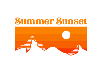 Summer Sunset t shirt design for purchase