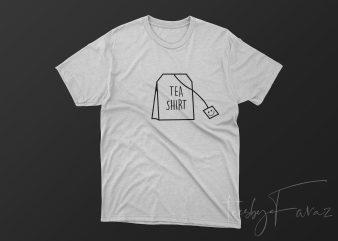 Tea Shirt, Tea bag, Artwork, Ready to print design t shirt design to buy