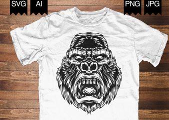 APE Illustration t shirt design template