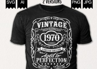 Vintage 1970's – 50th Birthday Shirt Design t shirt design template