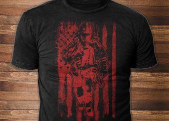 Firefighter buy t shirt design artwork
