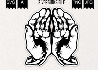 Open Hands design for t shirt