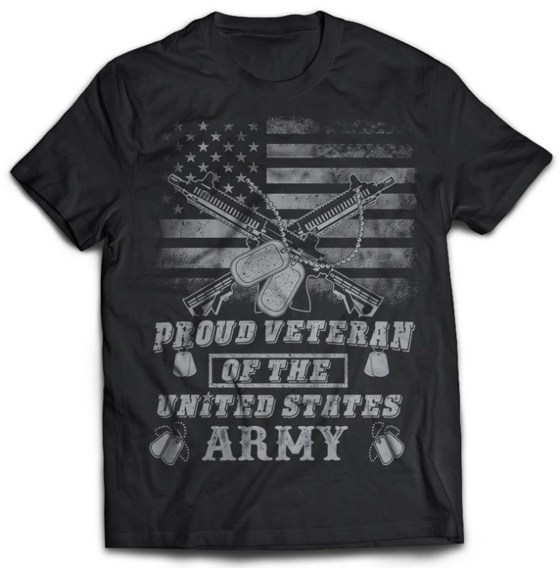 33 tshirt designs bundle Veteran, Army And Military PSD file EDITABLE