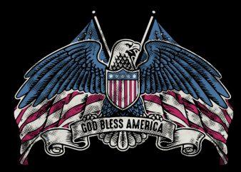 god blass america print ready t shirt design