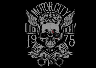 motorcycle skull helmet t shirt design template