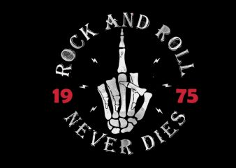 rock roll t-shirt design for sale