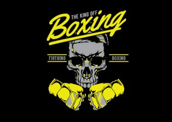 boxing skull shirt design png