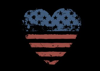 heart american flag buy t shirt design