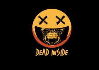 dead inside t shirt design template