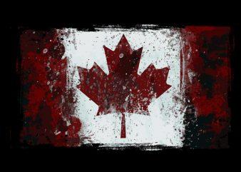 canadian flag t-shirt design png