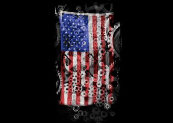 business american flag t shirt design for download
