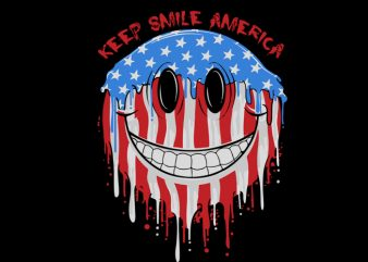 keep smile america graphic t-shirt design