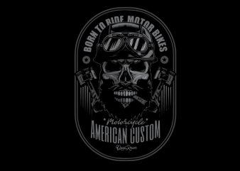 skull biker t-shirt design png