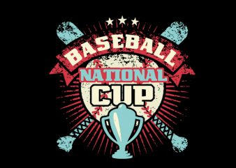 BASEBALL cup t shirt design to buy