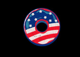 donut flag usa design for t shirt commercial use t-shirt design