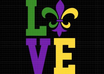 I Love Mardi Gras SVG, I Love Mardi Gras PNG, I Love Mardi Gras, I Love Mardi Gras design graphic t-shirt design