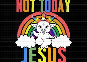 Unicorn not today jesus svg, Unicorn not today jesus png, Unicorn not today jesus, Not today jesus unicorn svg, Not today Jesus Unicorn, Unicorn svg, Unicorn commercial use t-shirt design
