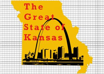 The Great State of Kansas SVG, The Great State of Kansas PNG, The Great State of Kansas, The Great State of Kansas design tshirt buy t shirt design