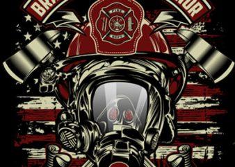 fire fighter shirt design png