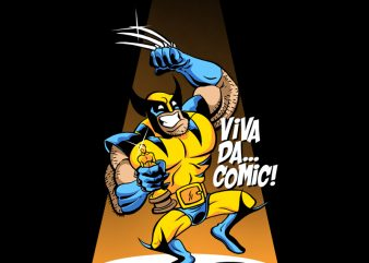 VIVA DA COMIC t-shirt design for commercial use