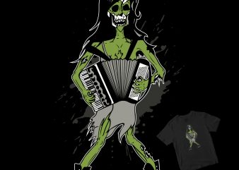 Zombie accordion buy t shirt design