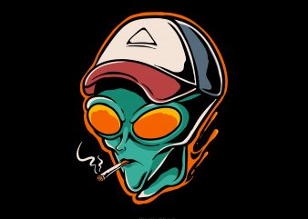 chill alien buy t shirt design