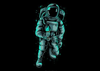 Astronaut ice cream shirt design png