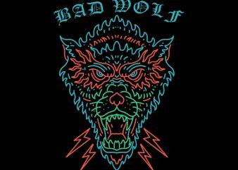bad wolf tshirt design