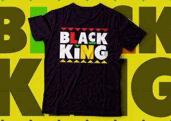 black king tshirt deisgn t-shirt design for sale