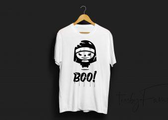 Boo   Horror   Unique   Trendy T Shirt Design