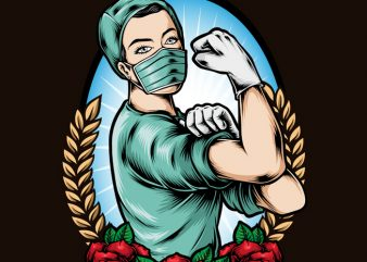 Rockabilly Nurse t shirt design for sale