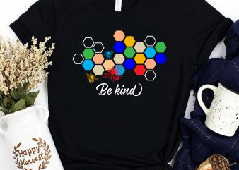 Be kind Bee keeper Beekeeping Autism hive t shirt design for sale