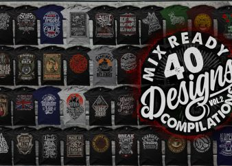 40 MIX READY DESIGNS T-SHIRT COLLECTIONS