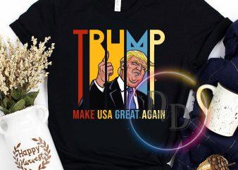 Trump Make USA great again Vintage T shirt t-shirt design for sale
