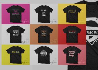 Pack Of 10 Mom T Shirt Designs   Best Bundle   Package   Pack of 10 Designs