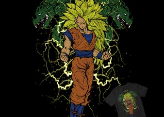 super saiyan dragon ball buy t shirt design for commercial use