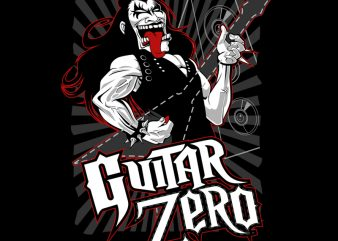 GUITAR ZERO design for t shirt