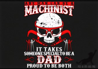 Machinist t shirt design for sale