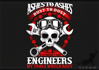 Ashes and Dust t shirt design template