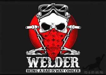 Welder Cool print ready t shirt design