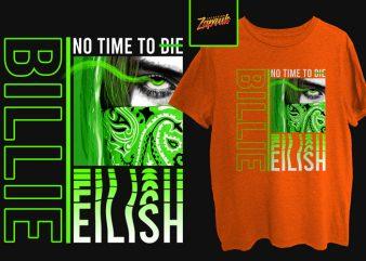 Music Series – Billie Eilish No time to die tshirt design for sale