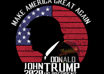 Donald John Trump Make America Great Again ready made tshirt design