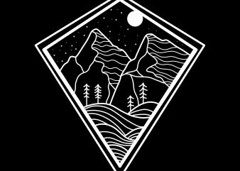 mountain tshirt design
