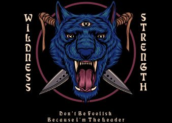 PANTHER WILDNESS & STRENGTH buy t shirt design for commercial use