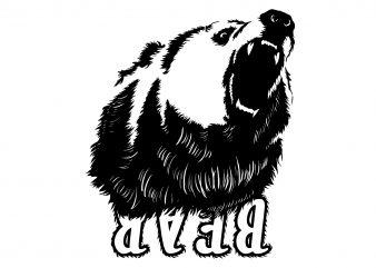 Bear emotions t shirt design template