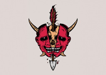 Skull Devil Mask 2 T-Shirt Design