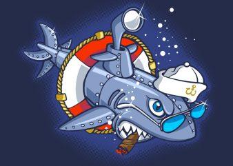 Sharkmarine buy t shirt design for commercial use