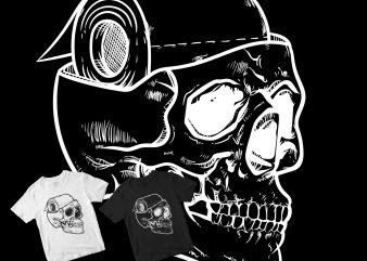 skull head toilet paper brain t shirt design to buy