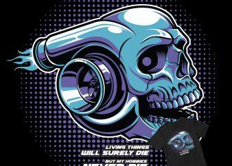 Skull Boost t shirt design template
