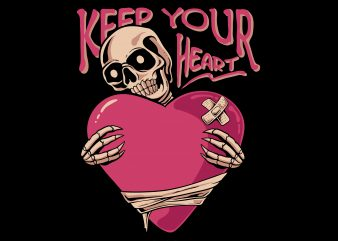 Keep your heart t shirt design for purchase